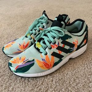 Adidas Zx Flux Nps Mens Running Floral Shoes 10.5